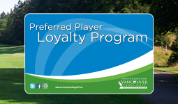 Learn about the Vancouver Parks Golf loyalty program