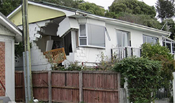 House damaged by an earthquake