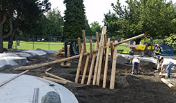 Park playground in the process of being built