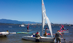 Sail boats at Jericho Beach