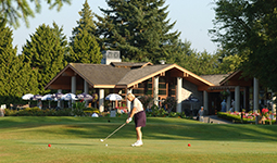 Golfer at Langara Golf Course