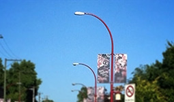 Street lights on Union Street