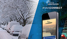 Report snow and ice issues with VanConnect
