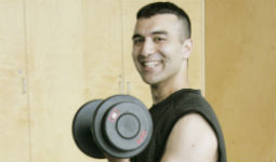 Free weights at Vancouver's community fitness centres