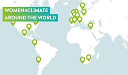 Map of Women4Climate around the world