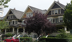 Queen Anne style homes on Bute Street